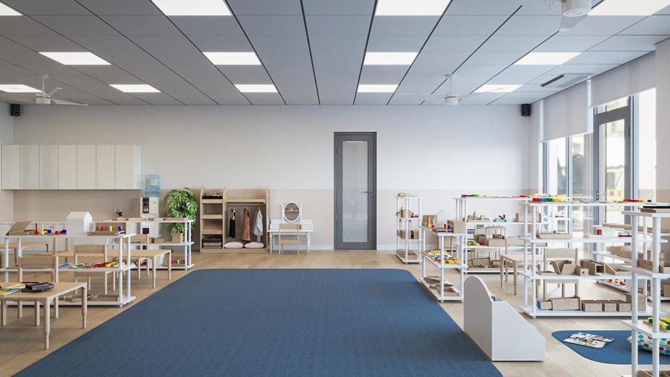 Thiết kế chuẩn XANH của trường mầm non quốc tế Sakura Montessori Hải Phòng