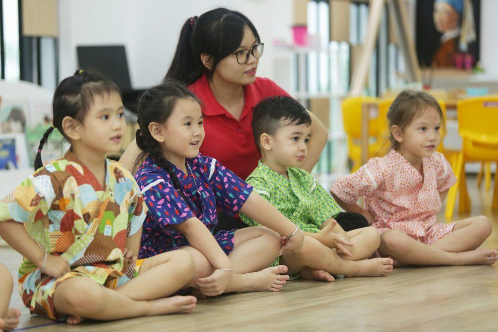 Phát triển kỹ năng sống toàn diện với chương trình Văn hóa Nhật độc quyền tại Sakura Montessori