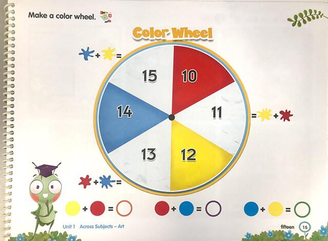 Những bánh xe màu sắc cùng những hình ngộ nghĩnh và các con số kích thích trẻ tìm hiểu về Toán học