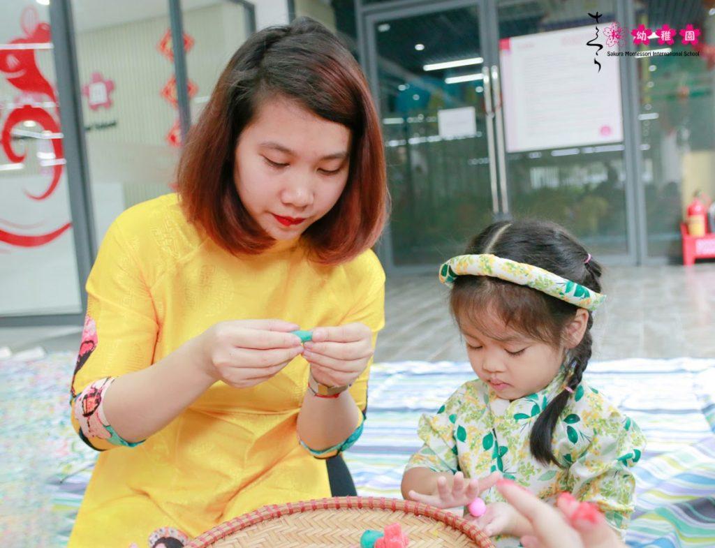 Cùng con trải nghiệm Tết quê hương tại Sakura Montessori Cầu Giấy 15
